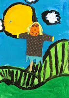 Deep Space Sparkle – Scarecrow Collage Art Lesson