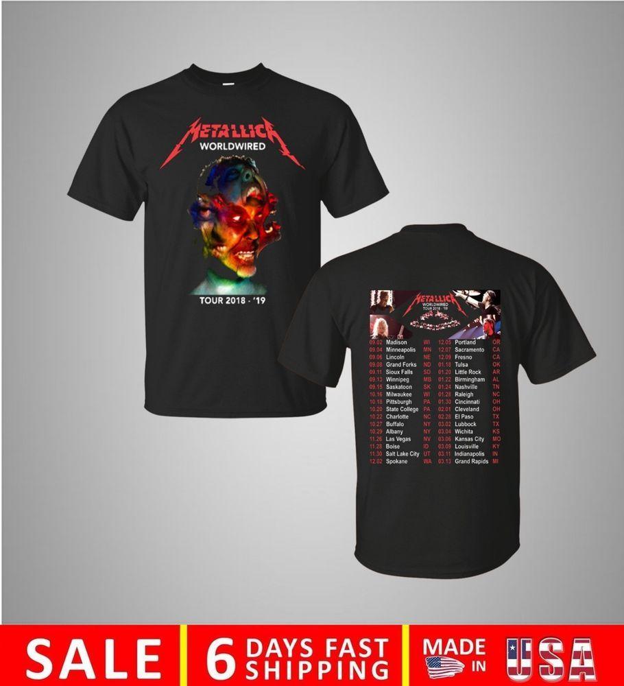 Slayer Metal Band Tour 2018 Men Gildan Tshirt Size for S-3XL