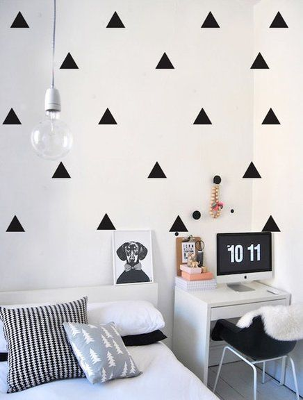 A Tendencia Do Triangulo Na Decoracao Decoracao De Quarto Tumblr Decoracao De Quarto Decoracao