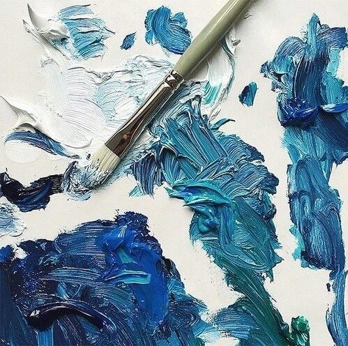 Shades Of Blue Paint image via we heart it https://weheartit/entry/175366648/via