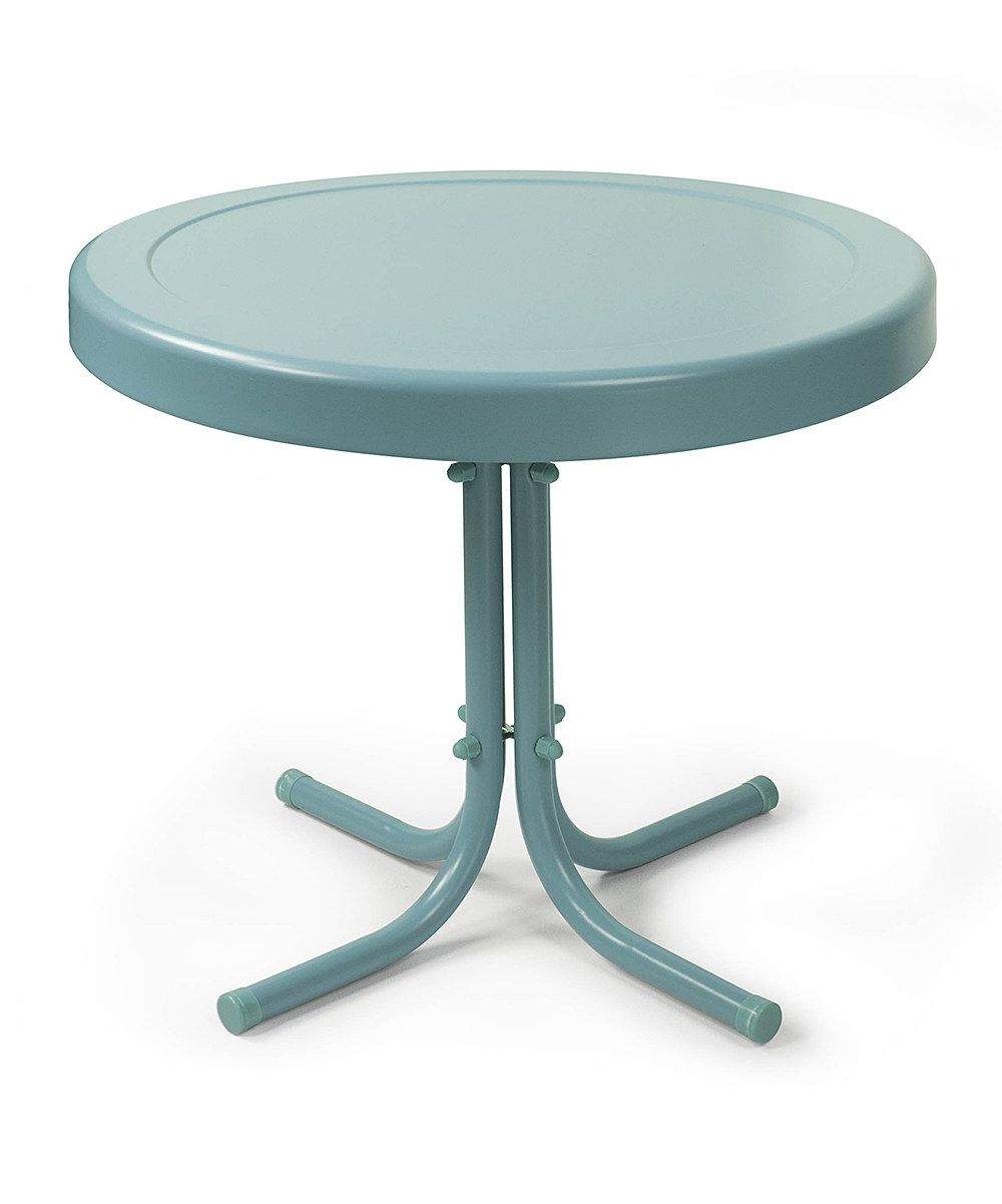 Look at this Caribbean Blue Steel Retro Side Table on #zulily today!