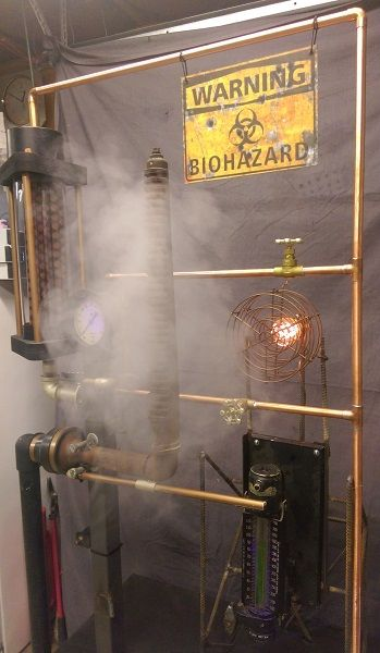 Halloween 2020 Steaming AMAZING 'steaming' prop by Halloween Forum member!!!   Fun