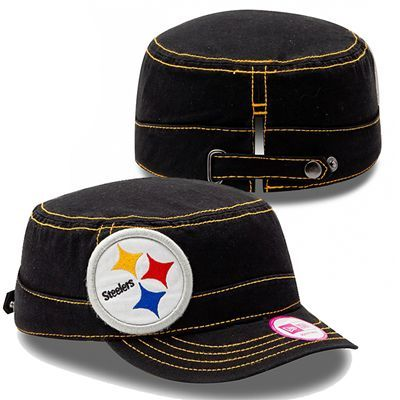 fe4ce3d7 Pittsburgh Steelers Women's Chic Cadet Hat (Black)   Pittsburgh ...