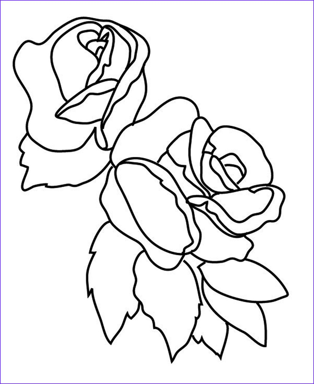Rose Flower Coloring Pages Skylark And Flowers Coloring
