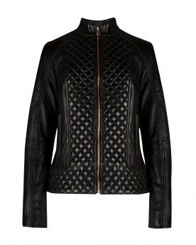 95a55b2107e4 Quilted leather jacket by Ted Baker London