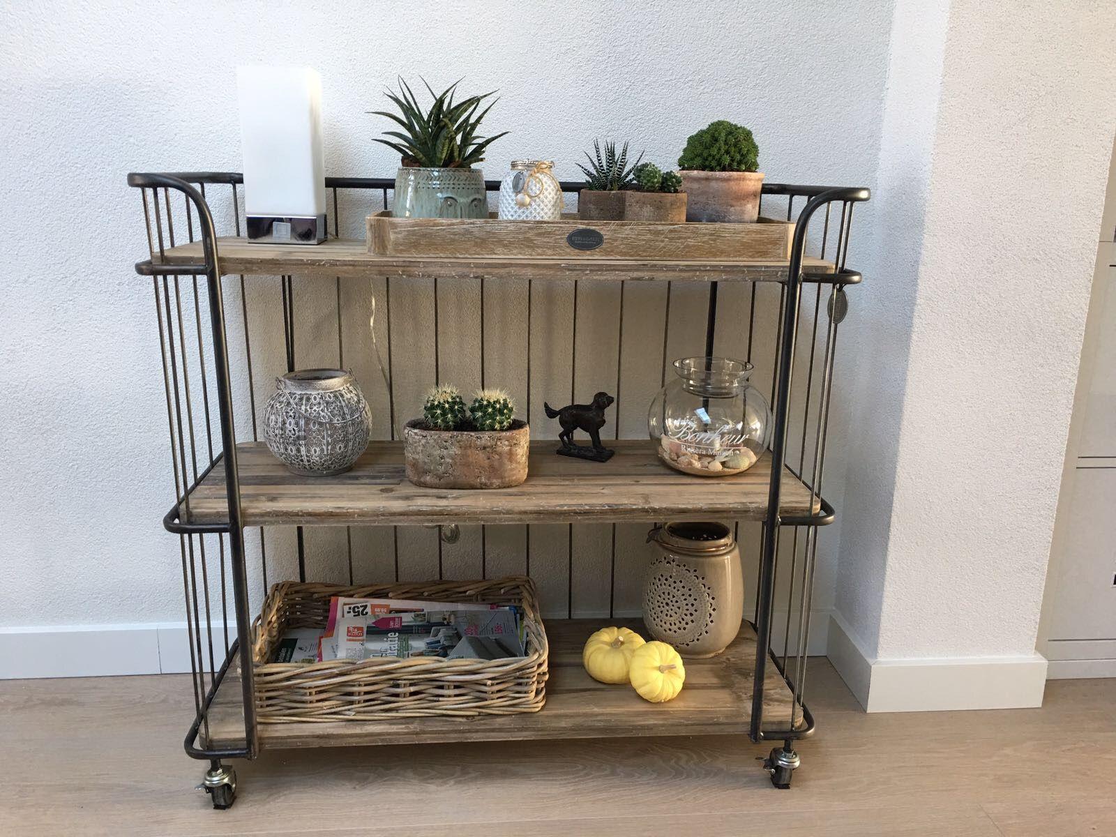 Trolley In Huis : Bakkerskast trolley industrieel keuken home decor