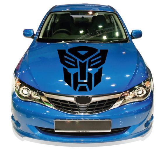 Transformers autobot auto hood car vinyl sticker by signs4half