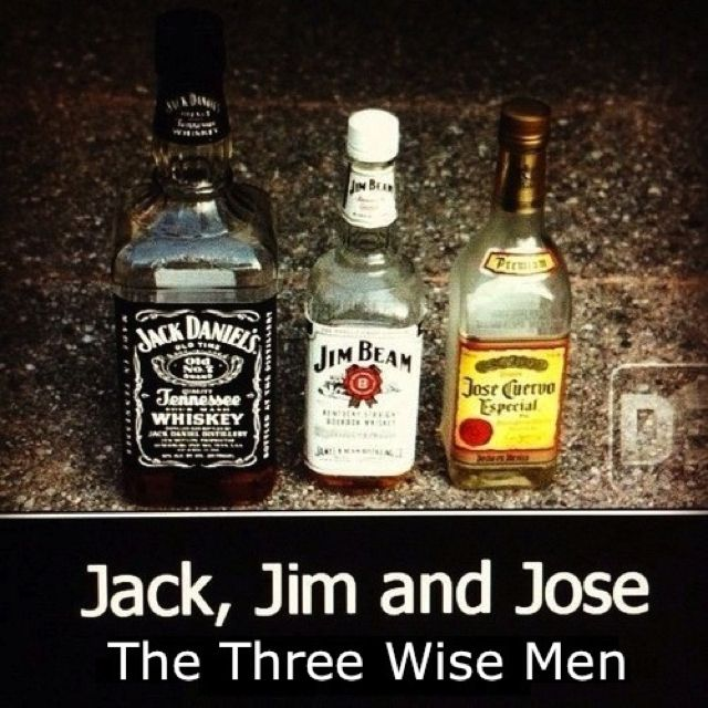 Three Wise Men Er Drinks Booze Jack Daniels Whiskey Bottle