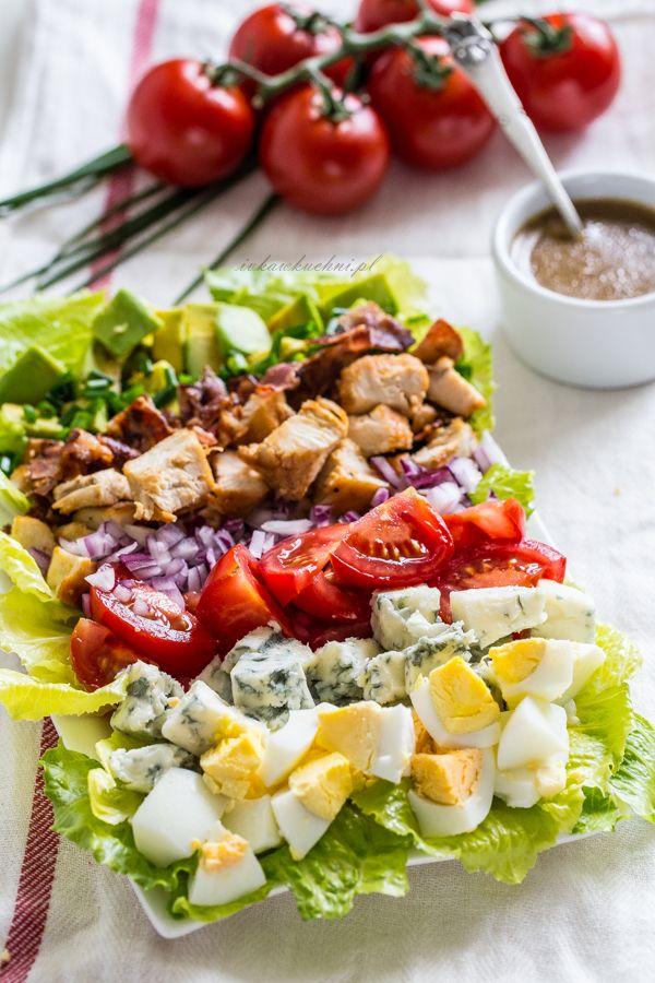 Ivka W Kuchni Przepisy Fotografia I Stylizacja Kulinarna Salatka Cobb Food And Drink Cooking Food