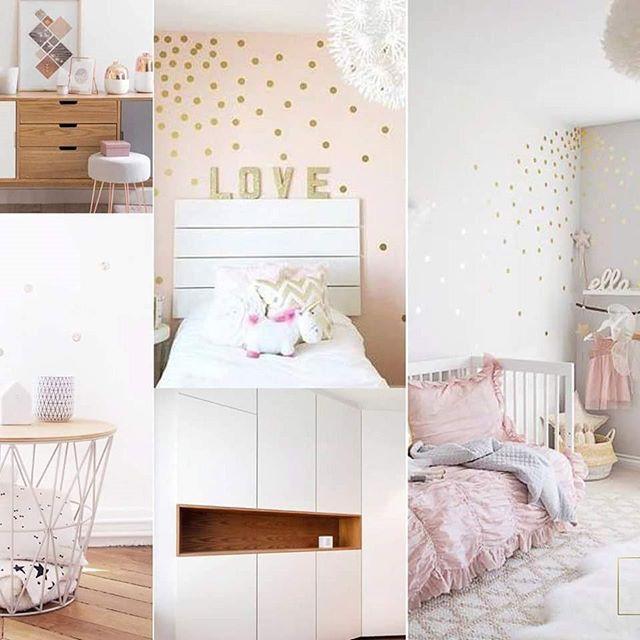 planche ambiance chambre enfant fille gris et rose scandinave ...