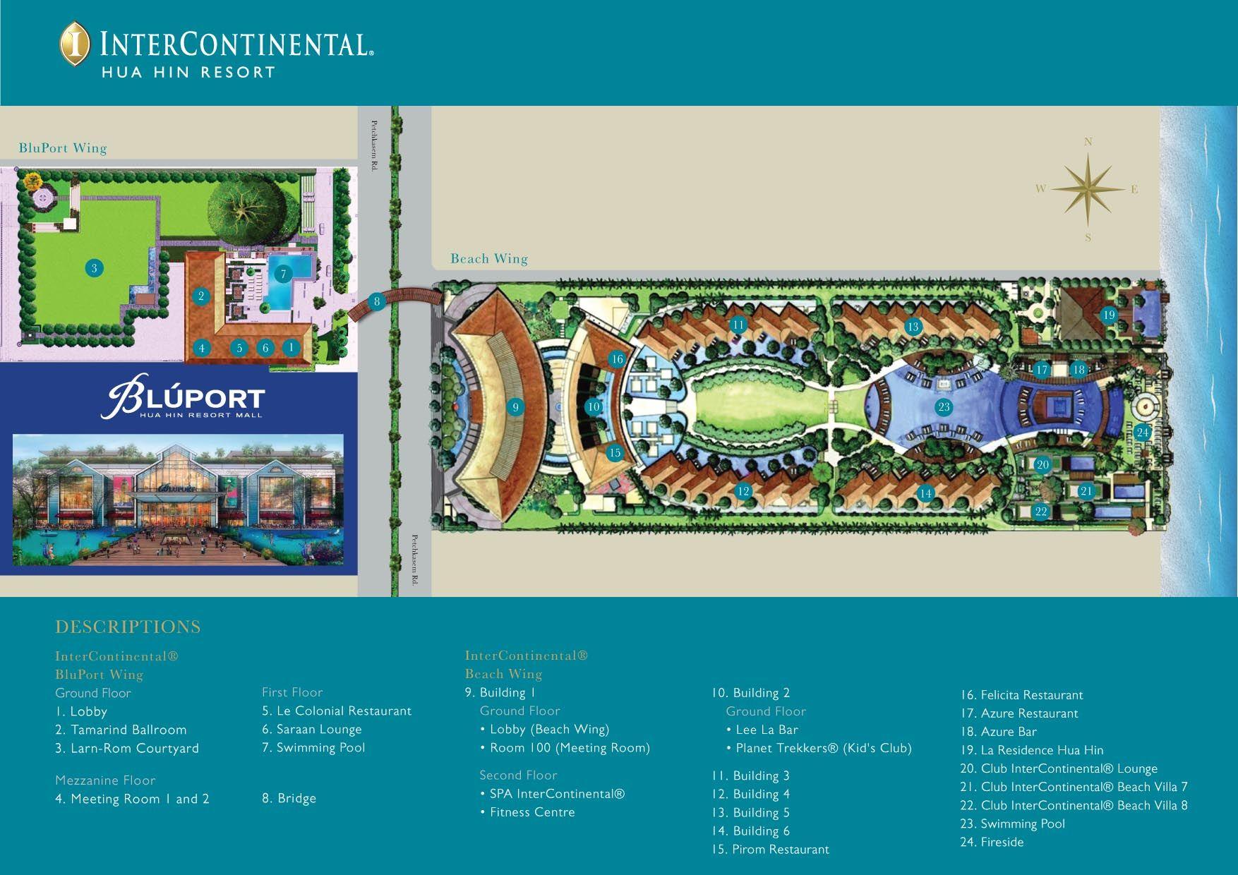 Intercontinental Hua Hin Resort Resort Design Resort Plan Resort