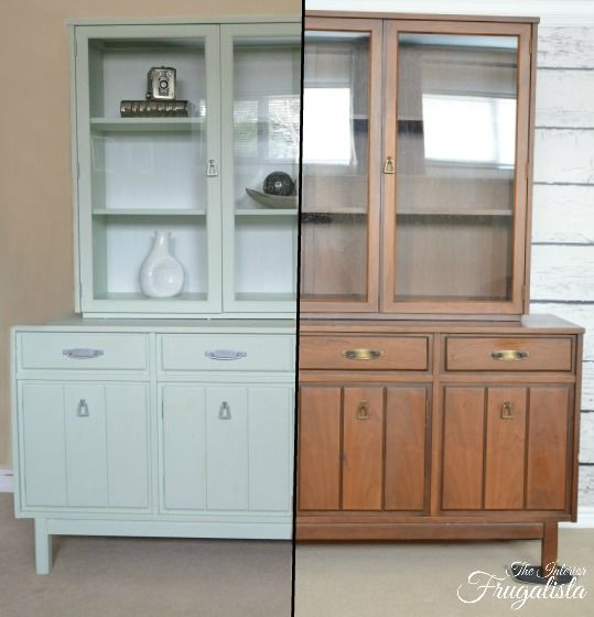 Mint Dining Room Hutch Before And After