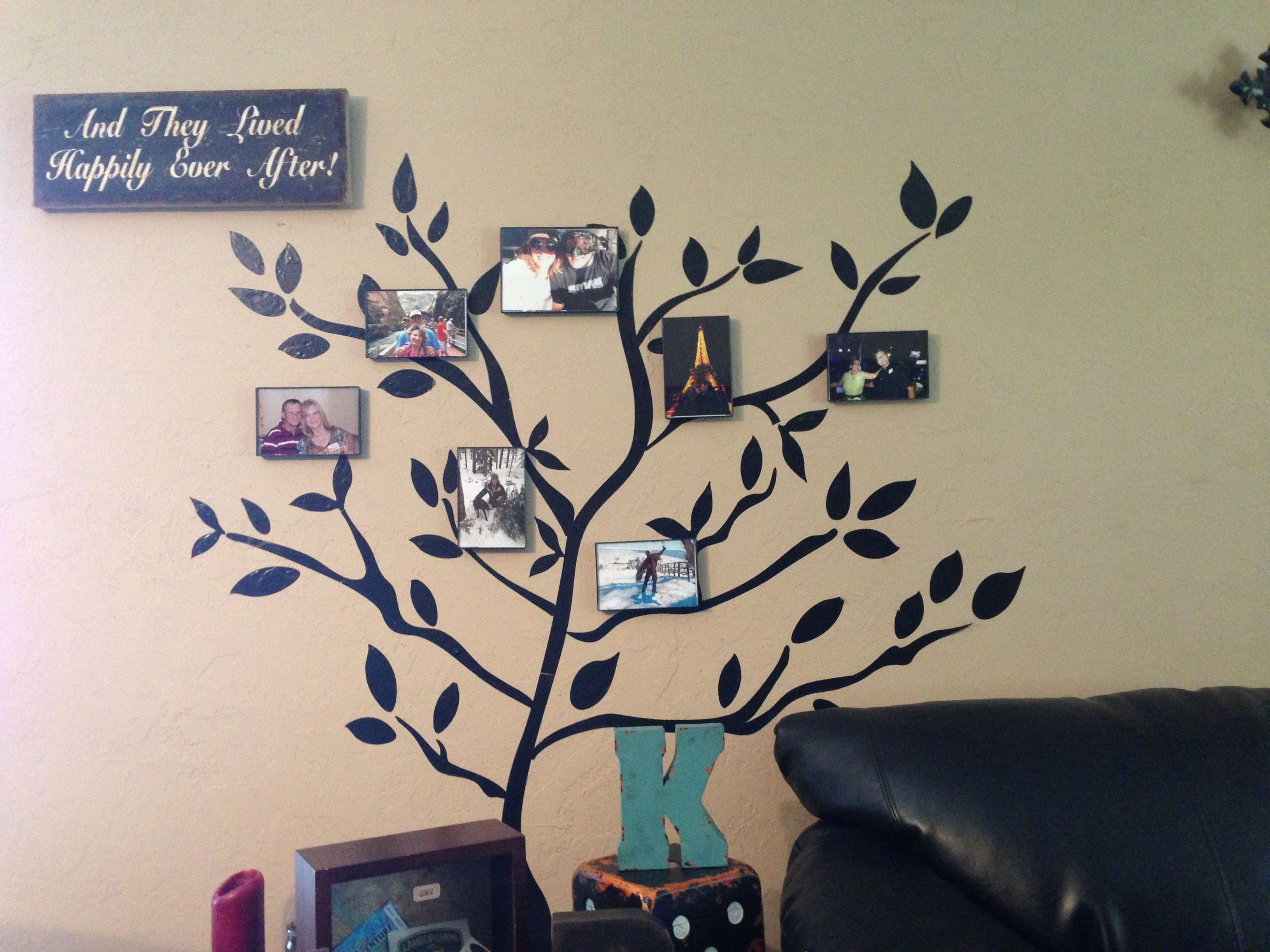 family tree the tree is vinyl wall stickers from walmart the cheap walmart frames