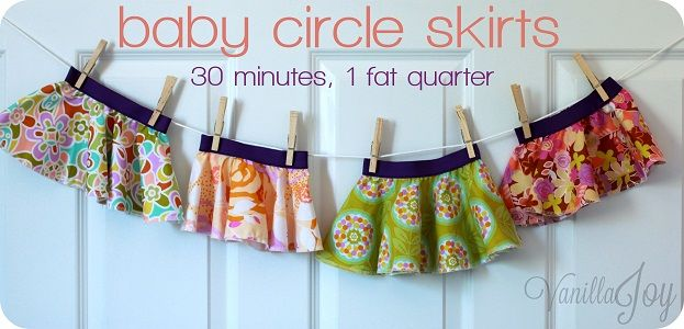 Baby Circle Skirt Tutorial Takes 30 Minutes And 1 Fat