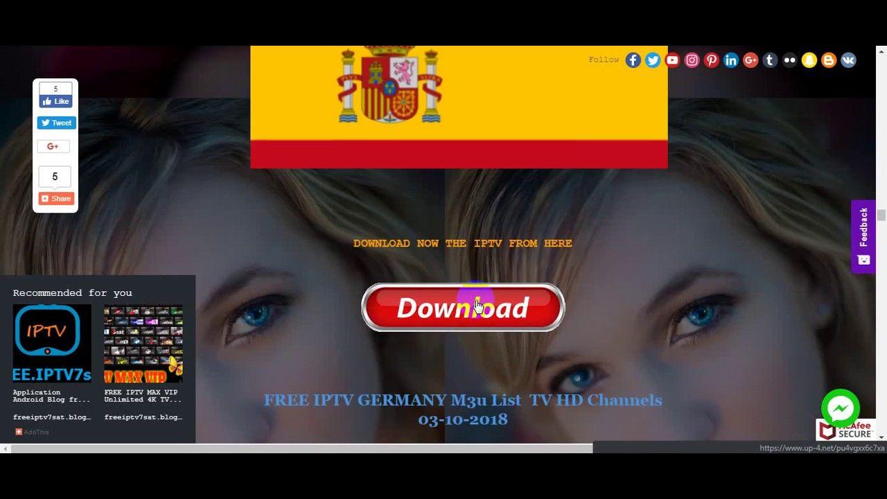free iptv links channels + sport m3u hd playlist 2018