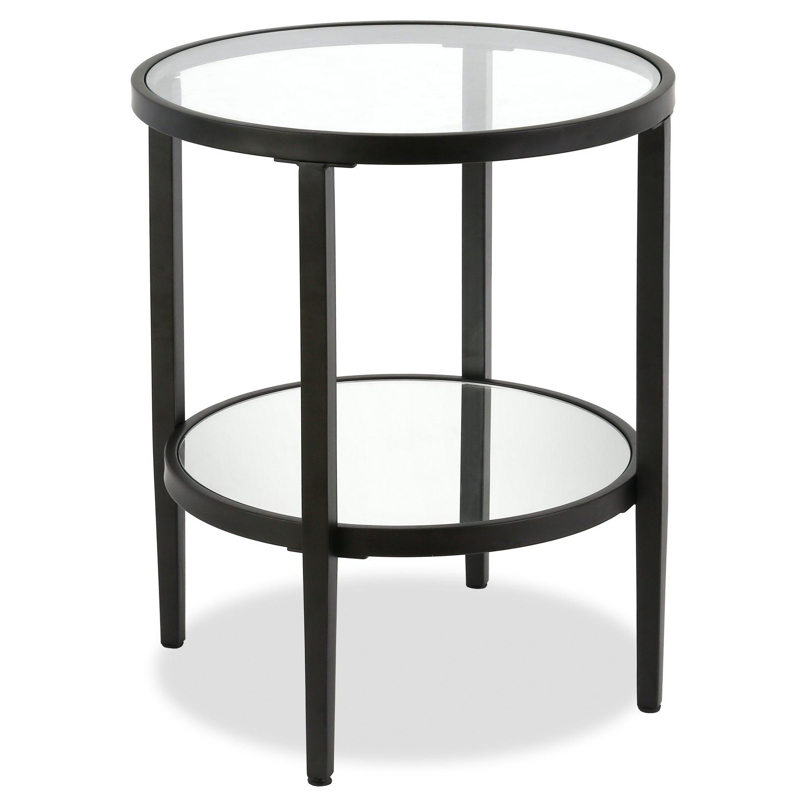 Hudson Canal Hera Side Table Side Table Glass Top Table Side Table Lamps