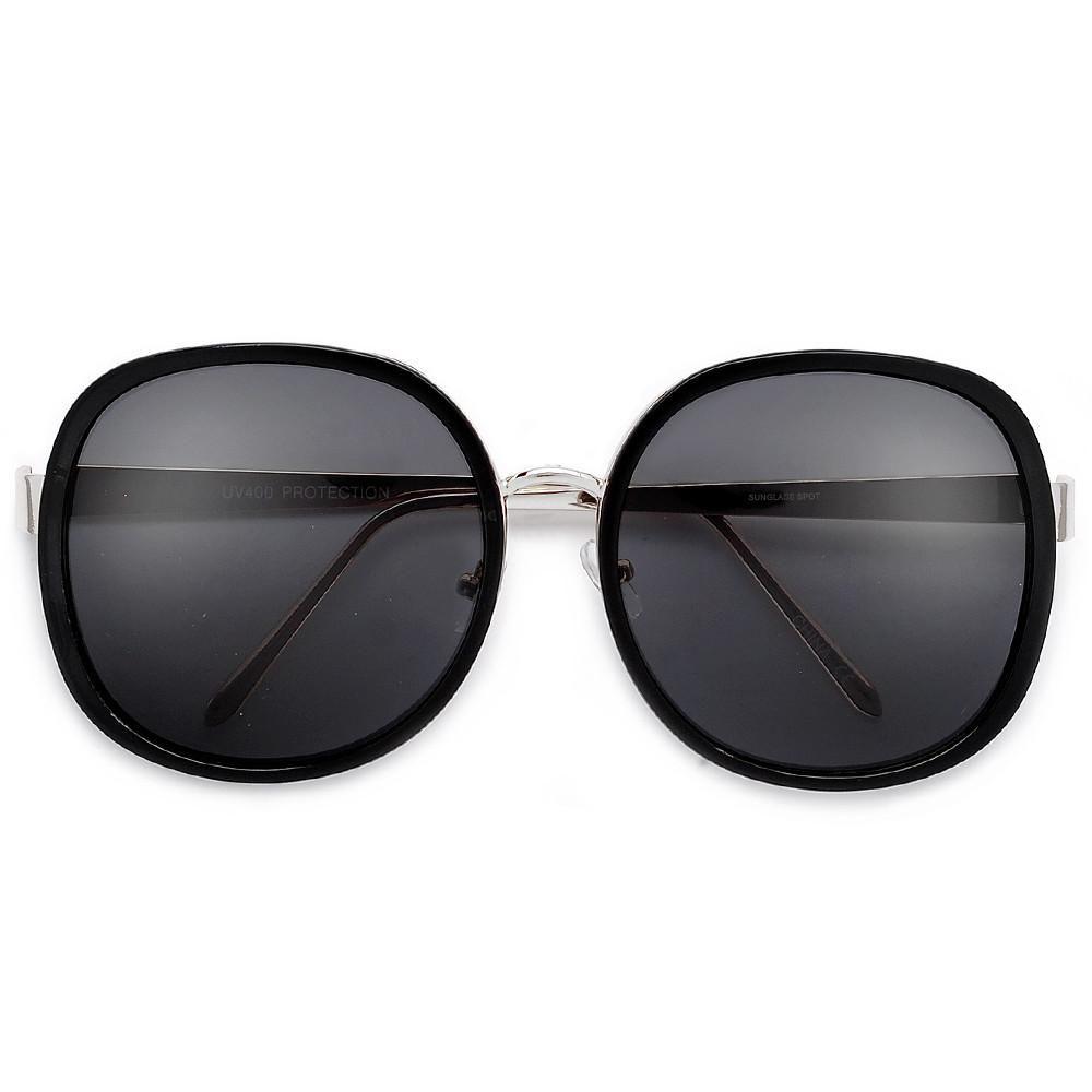 3cd5b060b2e Huge 63mm Metal Encased Fashion Forward Sunglasses