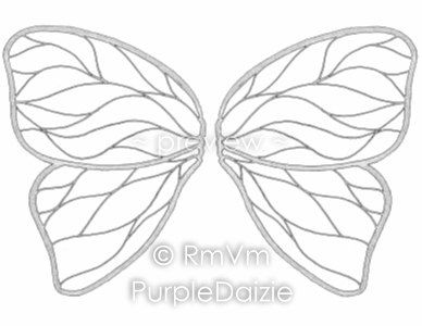 Butterfly Wings 2b Printable Color Page