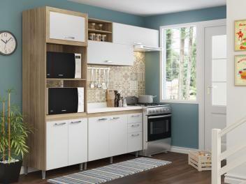 Kit Cozinha Completa Multimoveis Toscana 7 Portas 3 Gavetas Com