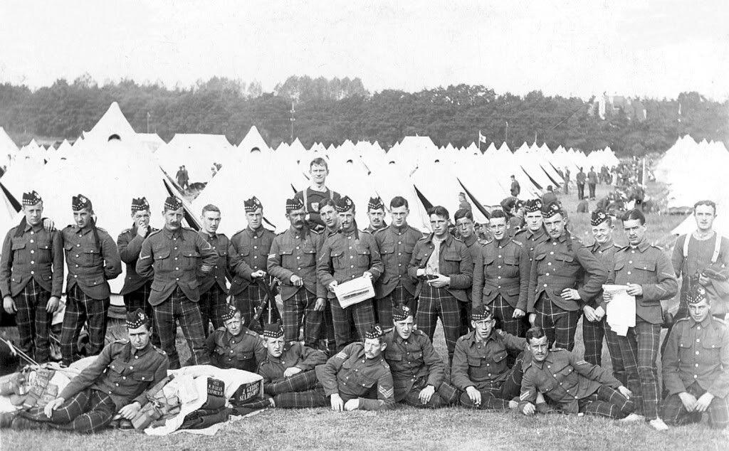 2nd battalion seaforth highlanders probably ash camp ash ranges nr