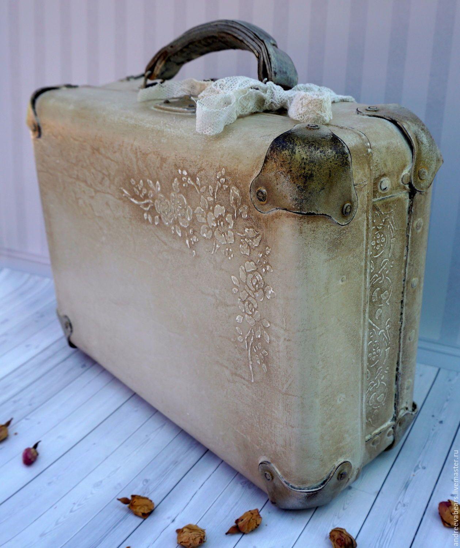 Винтажный декупаж старинных шкатулок, чемодана и сундука