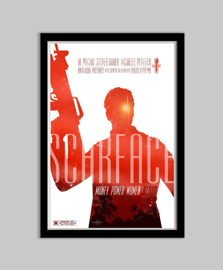 Scarface - 12x18 - Movie Poster - scarface, movie poster, film ...
