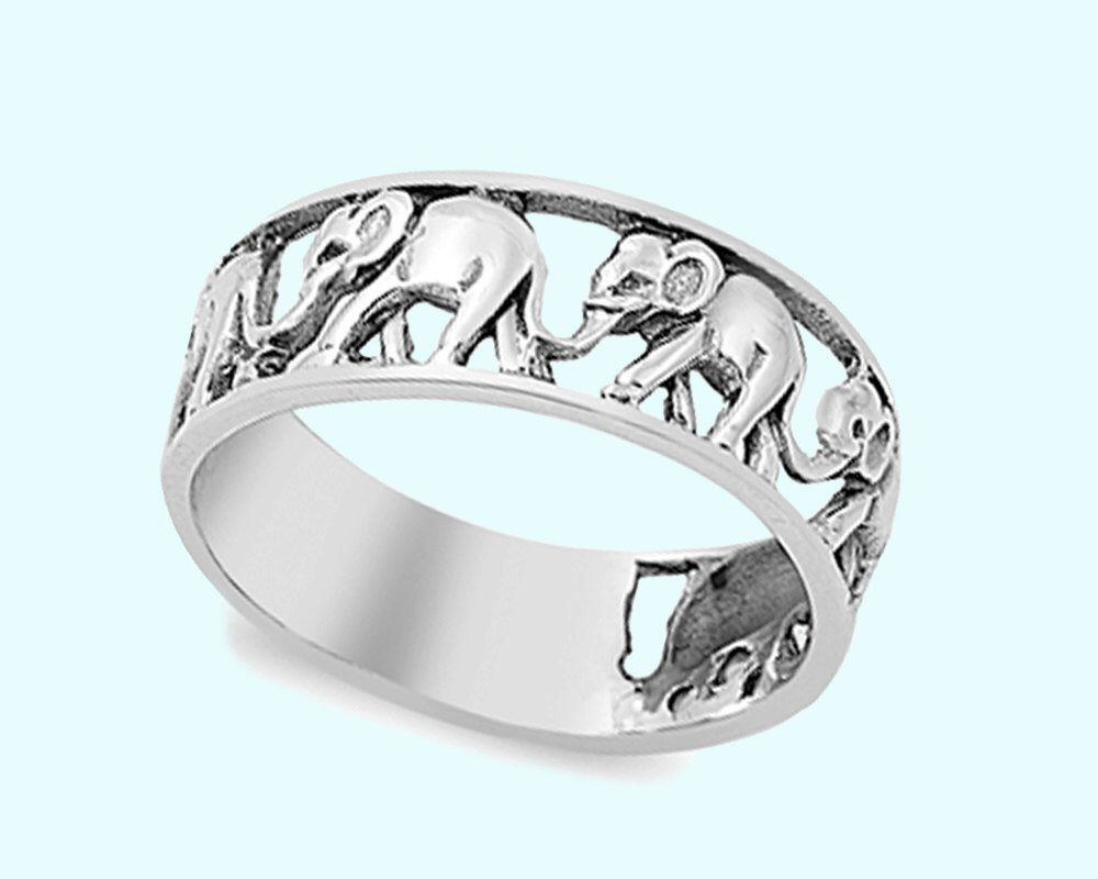 plated elephant engagement tone rings three jewelry large exclusive