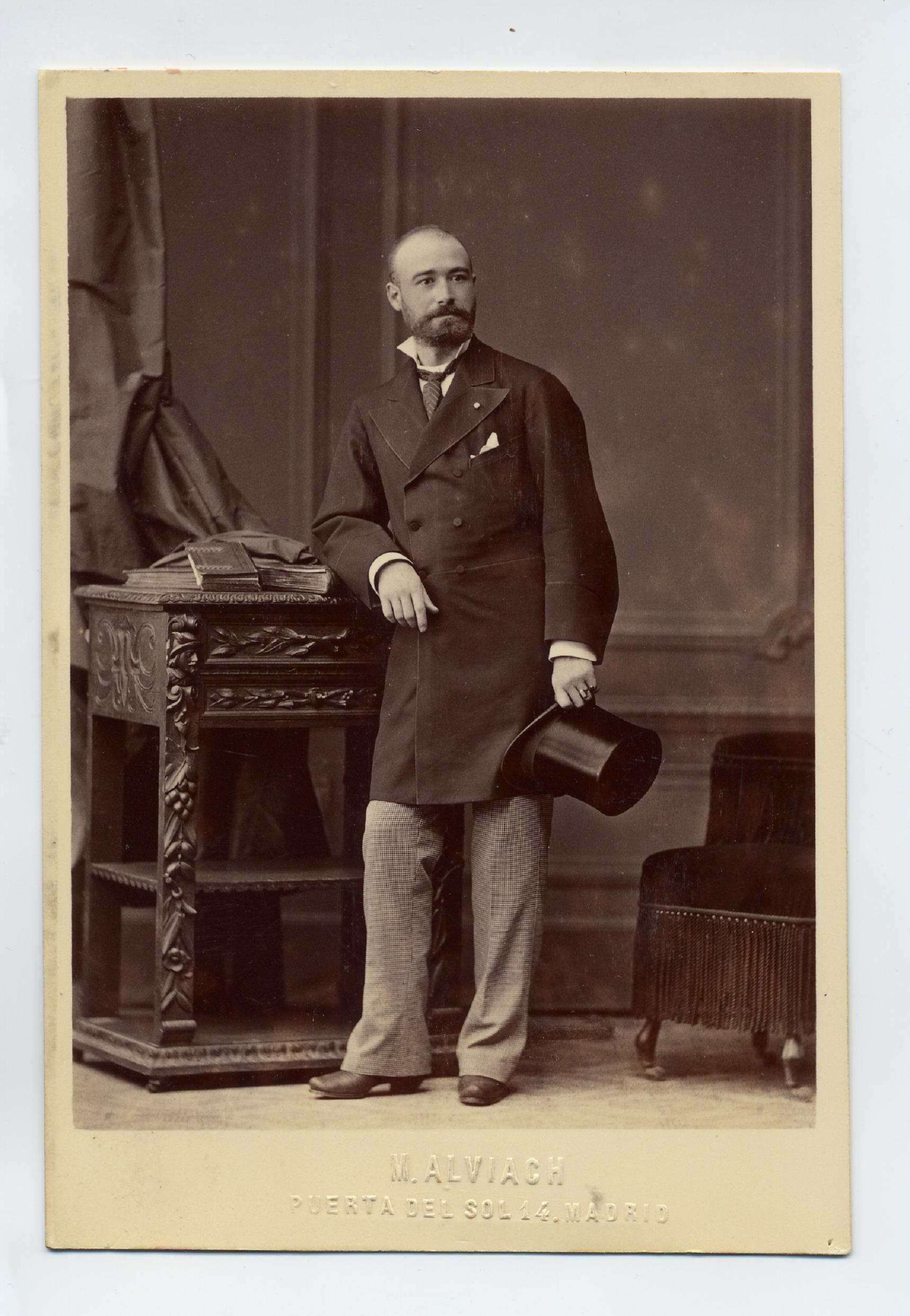 Alviach, M.: retrato de caballero, formato cabinet 1878.  Hesperus´ Collection