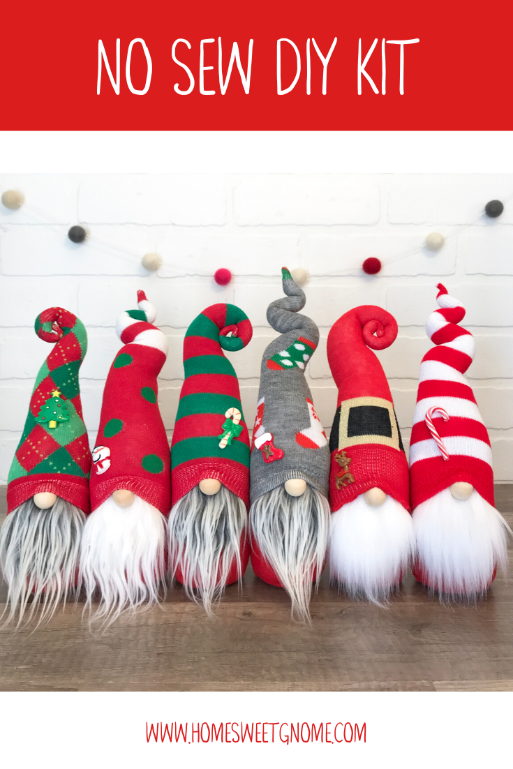 DIY Mystery Christmas Gnome Making Kit - NO SEW KIT #christmasgnomes