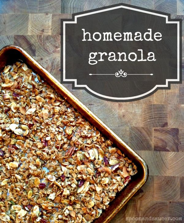 Homemade Granola (Gluten-Free) | Spoon and Saucer