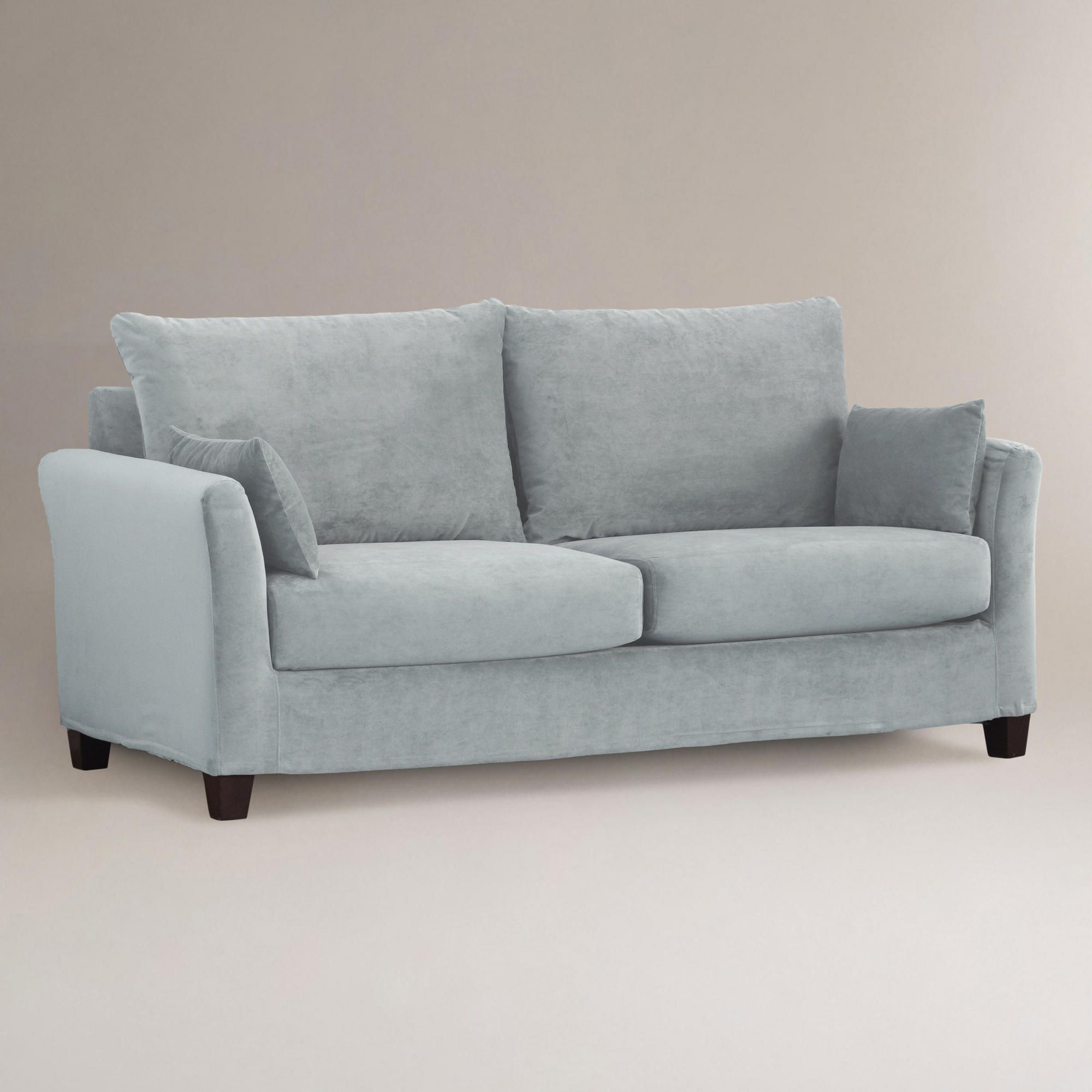 Magnificent Cloud Luxe Sofa Velvet Slipcover Collection World Market Pabps2019 Chair Design Images Pabps2019Com