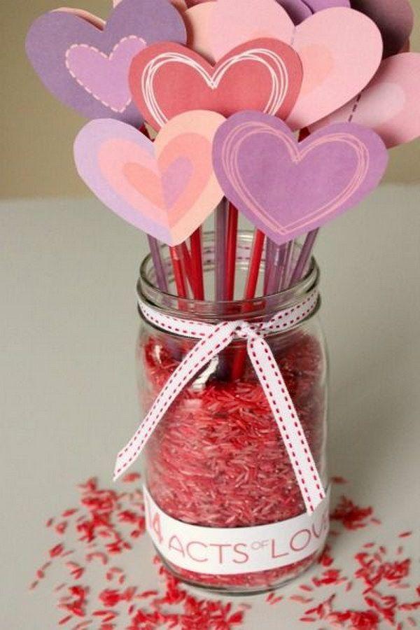 53 Valentine\'s Day Mason Jar Ideas & Tutorials | Tutorials, Mason ...