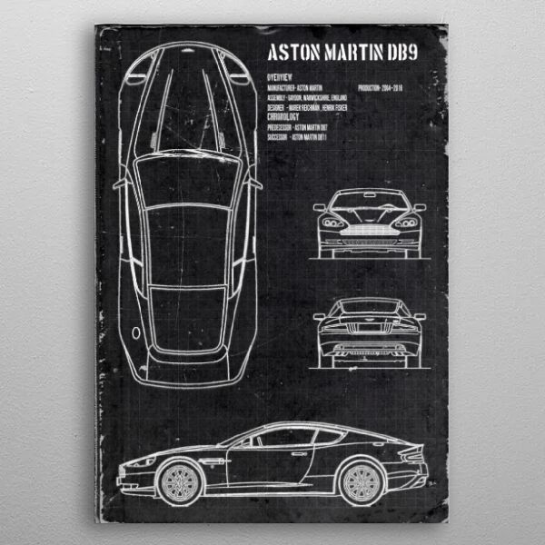 Aston Martin DB9 by FARKI15 DESIGN | metal posters - Displate | Displate thumbnail
