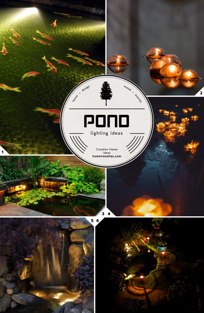 Fishes swimming in the night outdoor pond lighting ideas for Koi pond lights