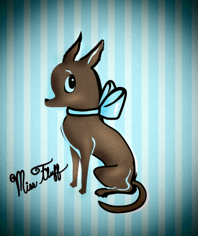a tiny chi with a bow - we love Miss Fluff! www.fluffshop,com