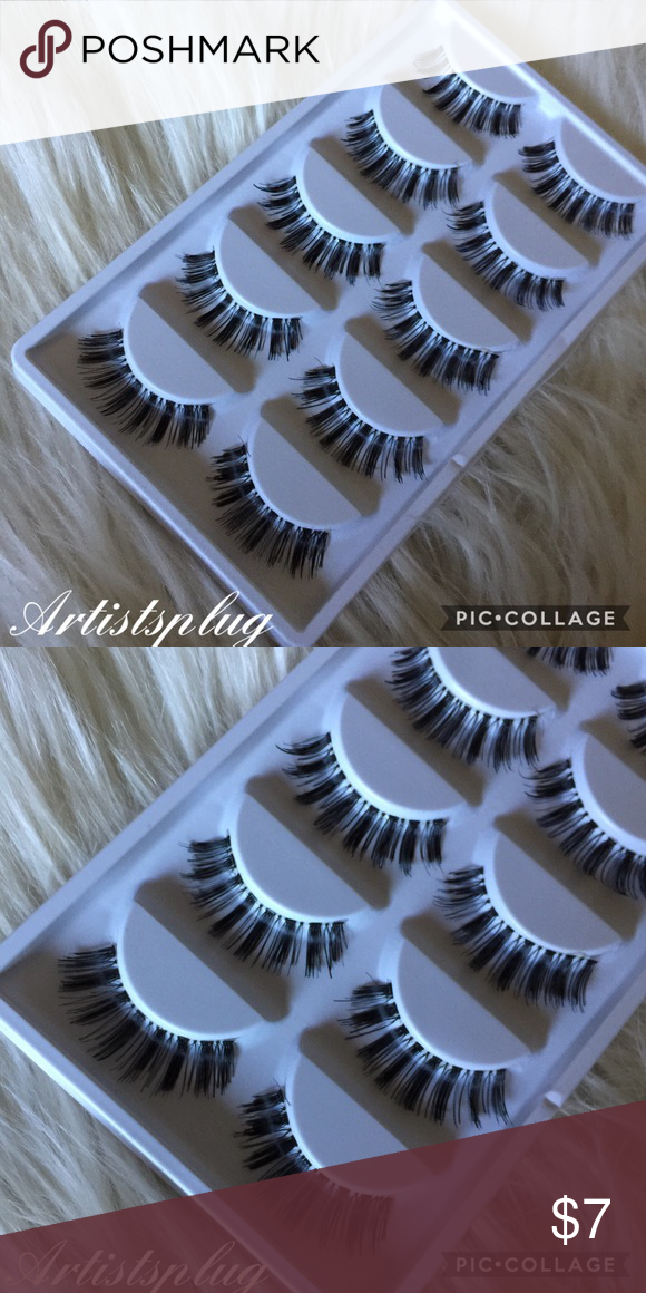 ab6901f7cec Natural Synthetic Semi Wispy Lashes 5 Pack 🔥 Brand new Wispy natural False  eyelashes Includes 5 pair Synthetic Bundle to save 💕💕 Makeup False  Eyelashes
