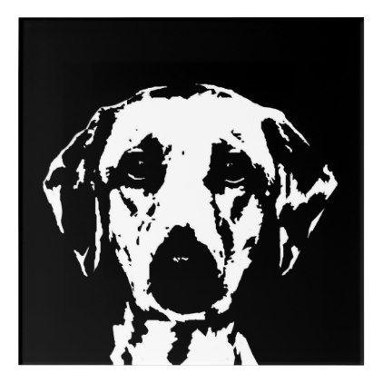 Labrador Black & White Acrylic Wall Art - dog puppy dogs ...