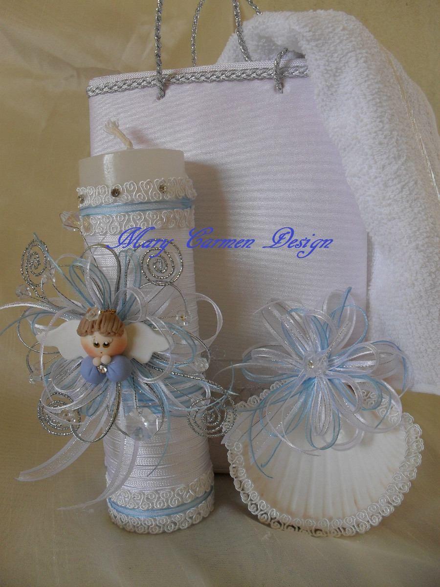 Velas decoradas para bautizo imagui for Decoracion de velas para bautizo