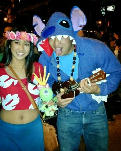Diy Lilo And Stitch And Scrump Costumes For Halloween Couple Halloween Costumes Disney Couple Costumes Funny Halloween Costumes