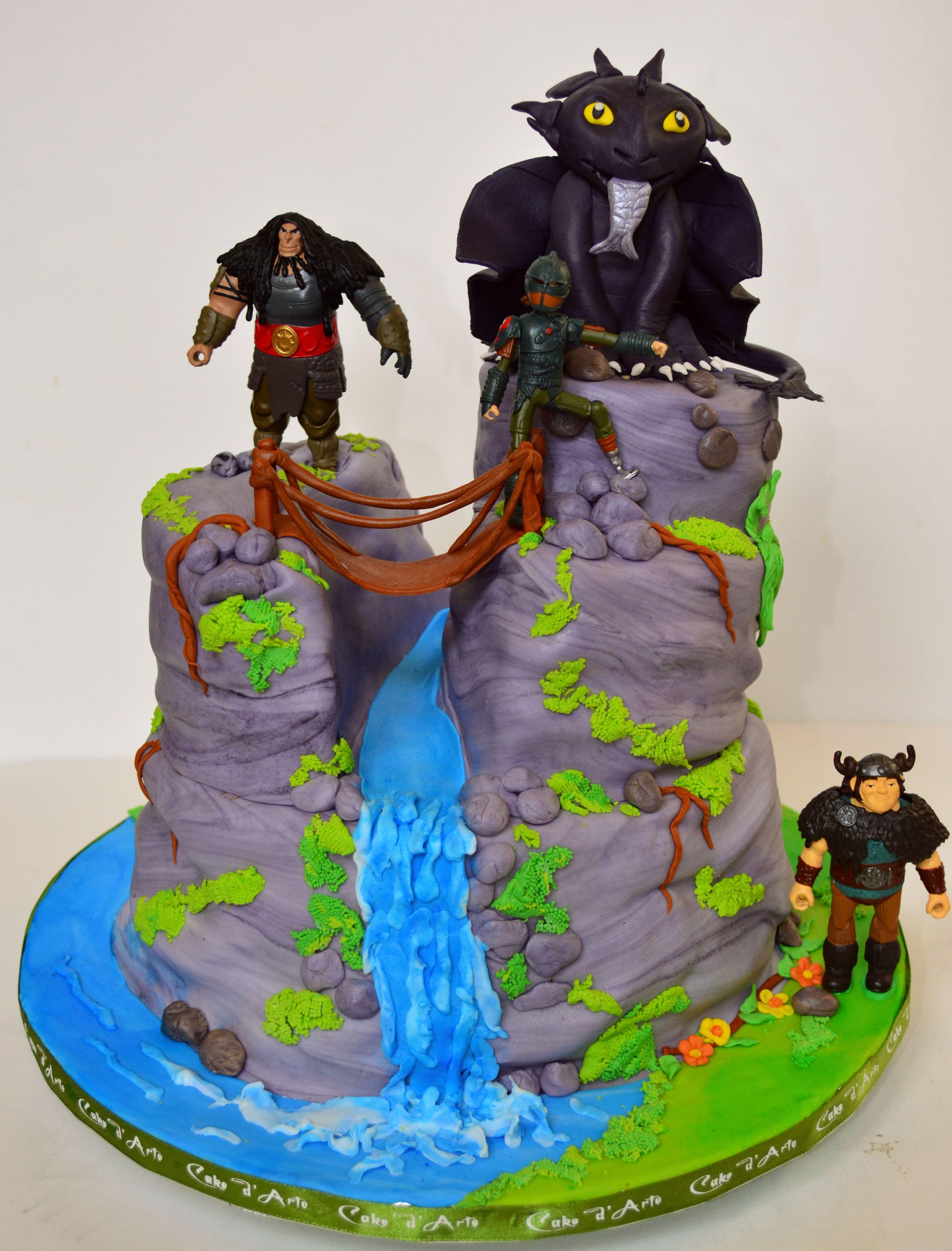 How To Train Your Dragon 3 Cake Dragon Birthday Cakes Shark