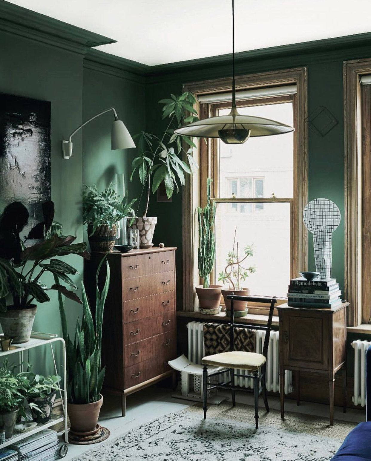 jungalow color amp style home inspo living room green
