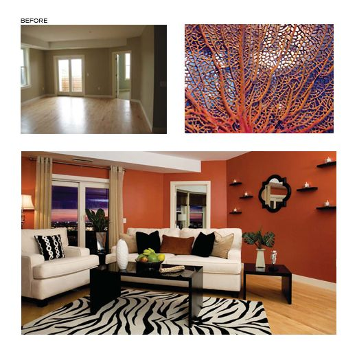 Wall color is jalapeno sw6629 warm and bold paint - Living and dining room paint colors ...