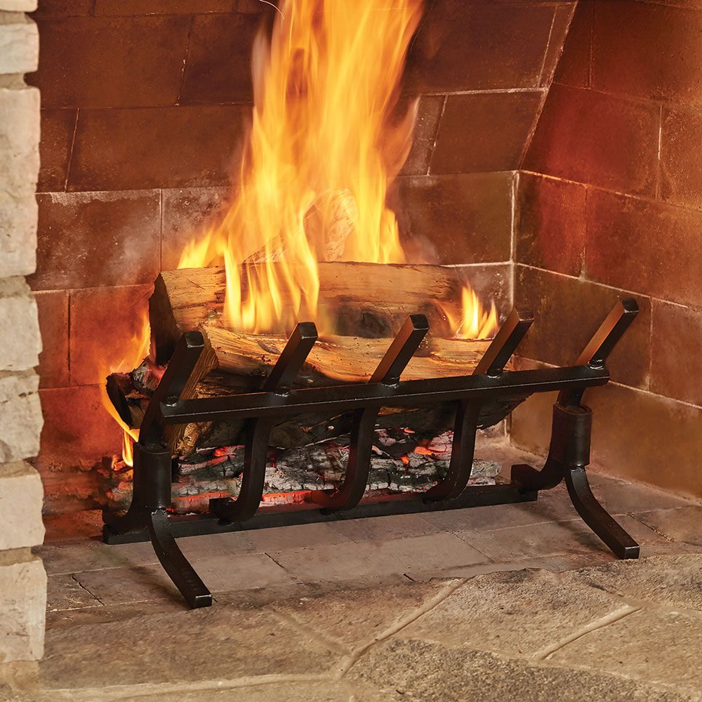 Fireplace Grate, How To Clean Cast Iron Fireplace Grate