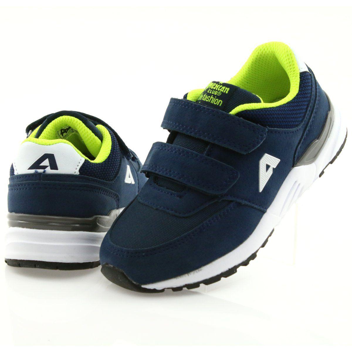 Buty Sportowe Wkladka Skorzana American Club Bs09 Granatowe Sport Shoes Kid Shoes Shoes