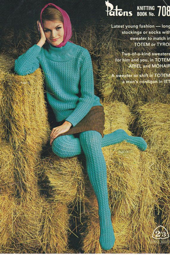 1960s Knitting Pattern - Vintage Patons No 708 His and Hers Fashion in Patons Totem, Jet, Ariel and Mohair, Jumpers, Sweaters, Cardigans