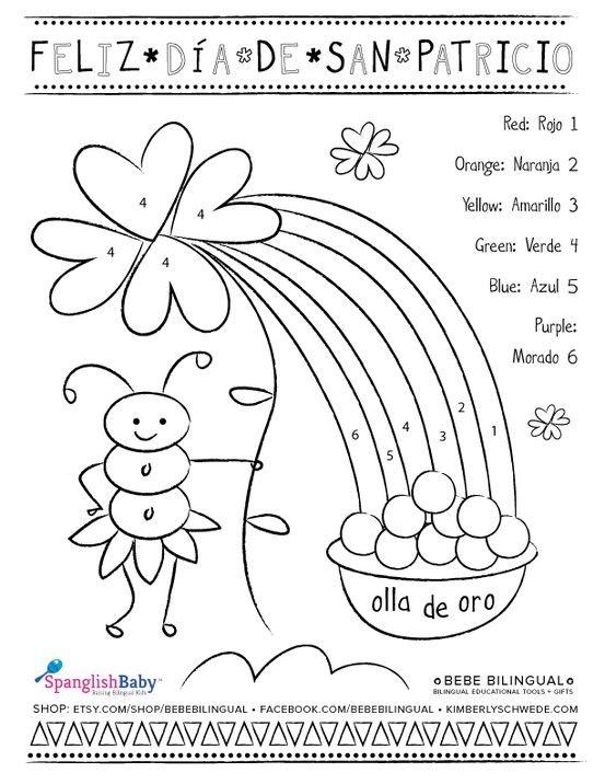 spanish st patricksday printable for kids bebe bilingual by kimberly schwede preschool. Black Bedroom Furniture Sets. Home Design Ideas