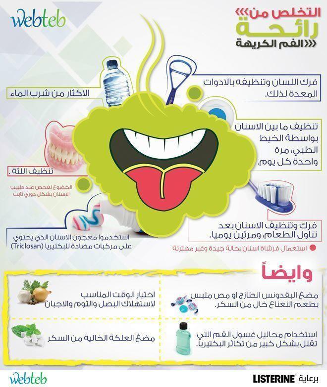 كيفية التخلص من رائحة الفم الكريهة بخطوات قليلة Oral Health Dentistry Health