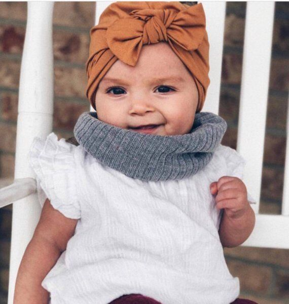 9f88242a8ad5a5 Sibling Hat Set: CAMEL {2 hats} Girls Turban hat w bow & Boys Fold-Over  Beanie