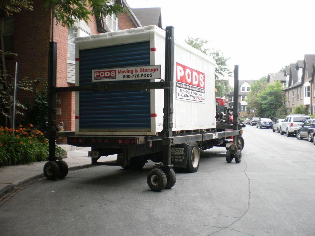 Buy a Used Shipping Container Storage pods, Moving