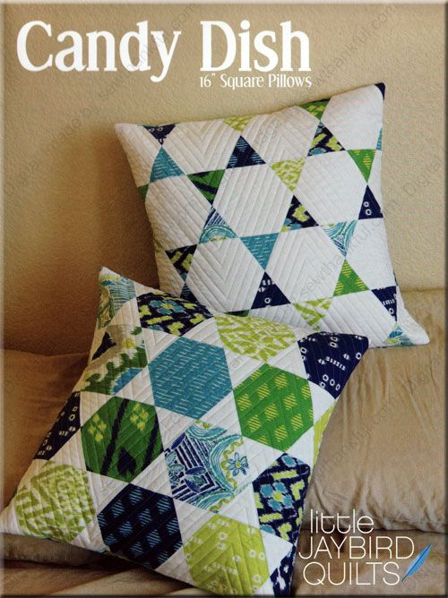 quilted pillows patterns | Candy-Dish-quilt-sewing-pattern-Jaybird ... : quilt pillow patterns - Adamdwight.com